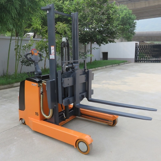 Electric reach stacker